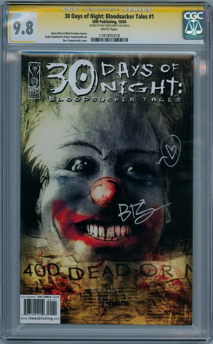 30 Days Of Night Bloodsucker Tales 1 CGC 9.8 Signature ...