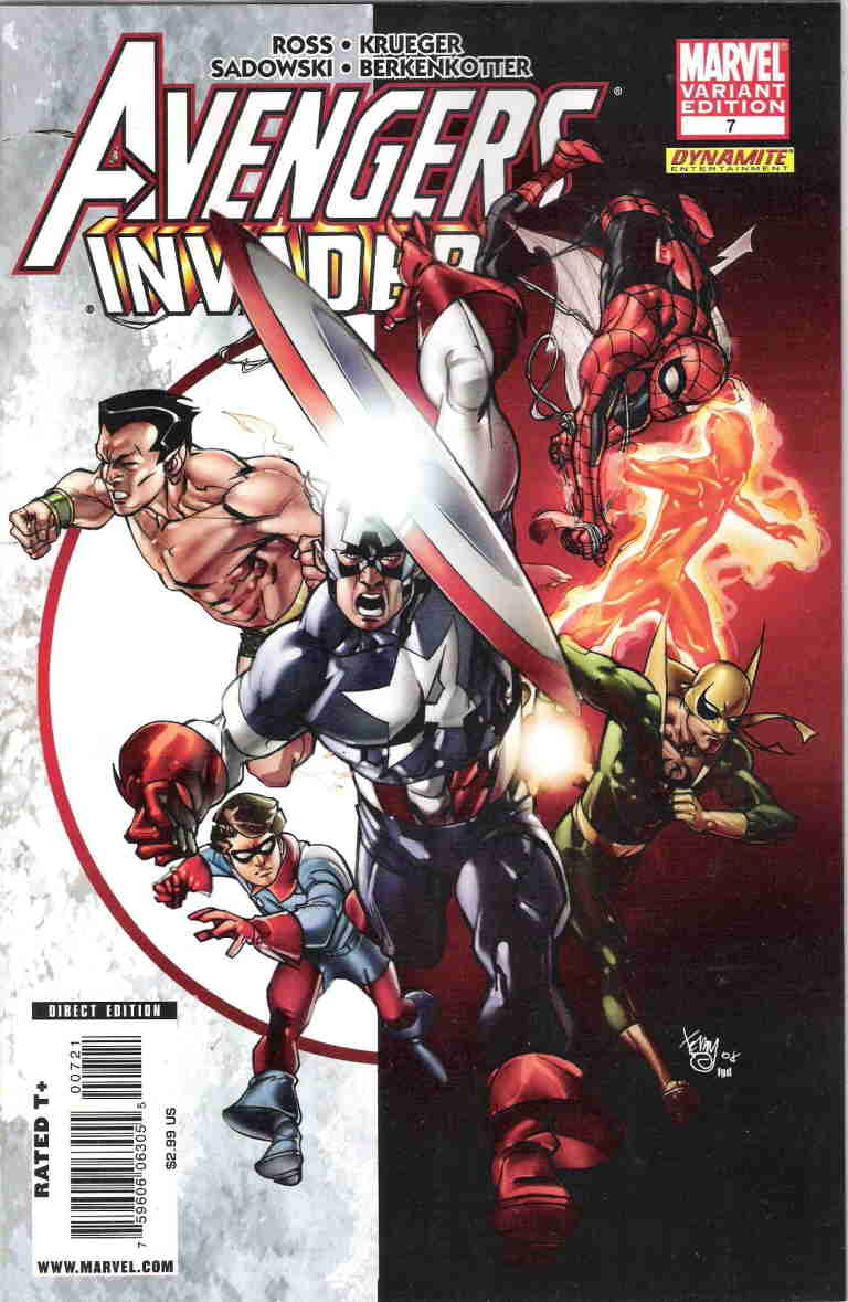 Avengers Invaders 7 Pasqual Ferry Retail Variant 125 2008 Alex Ross