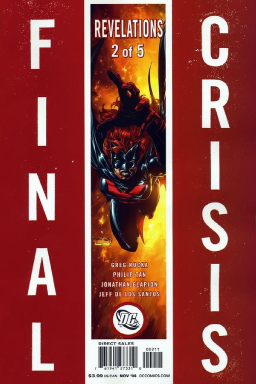 Final Crisis Revelations 2 Cover A 2008 DC Comic Book