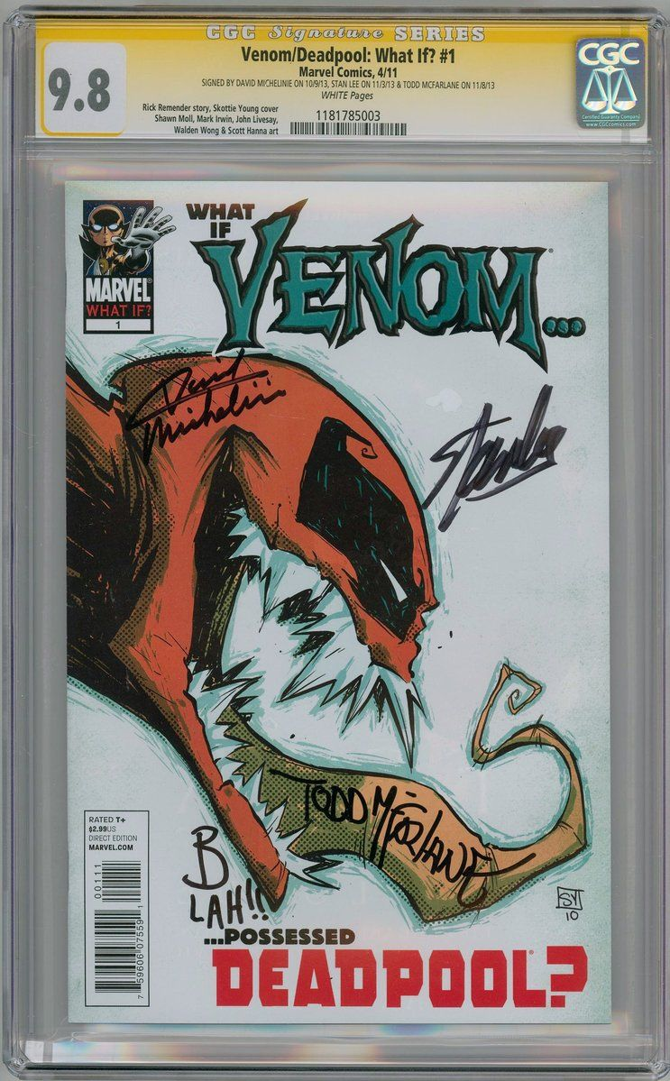what if venom deadpool 1 cgc 9 8 signature series signed