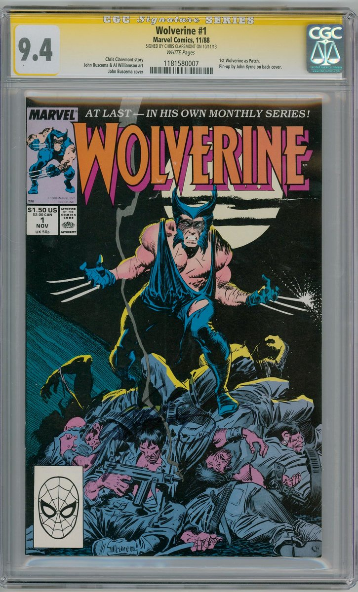 wolverine 1 1988 cgc 9 4 signature series signed chris claremont first logan appearance marvel