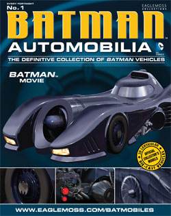 DC Batman Automobilia Batmobile Collection from Eaglemoss