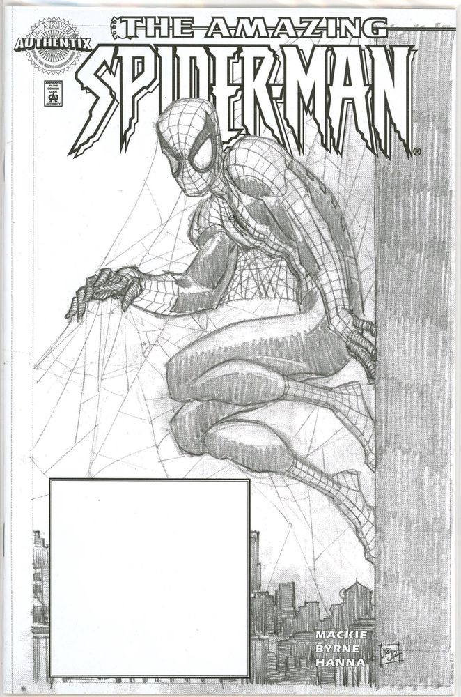 Amazing Spider-man #1 John Romita Jr Dynamic Forces Authentix Sketch  Variant DF COA 9 8 Marvel comic
