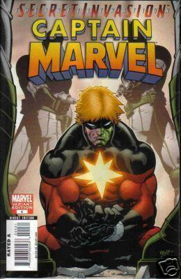 Captain Marvel #4 Secret Invasion Skrull Retail Incentive Variant SII