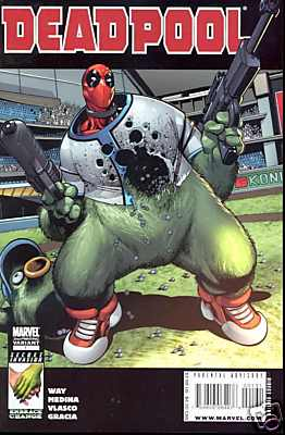 Deadpool #1 2nd Second Print Medina Variant (2008) Secret Invasion Marvel comic book