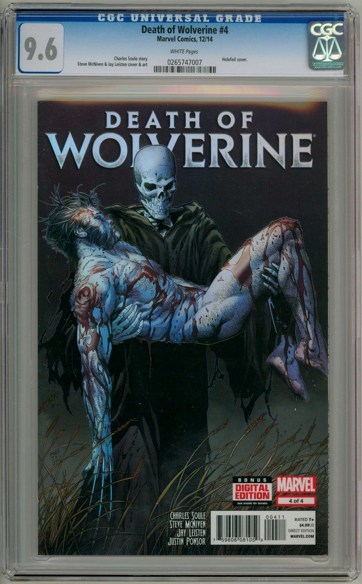 346c4401b68 Death Of Wolverine #4 First Print CGC 9.6 Marvel comic book