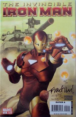 Invincible Iron Man #2 Larroca Cover Dynamic Forces Signed Fraction DF COA Ltd 19 Marvel comic book