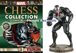 Venom Black Pawn 9 Marvel Chess Collection Eaglemoss