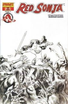 Red Sonja Vacant Shell Sketch Retail Incentive Variant
