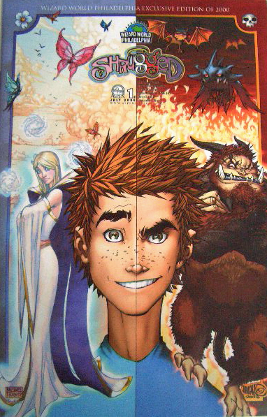 shrugged 1e wizard world philly michael turner variant aspen comic book