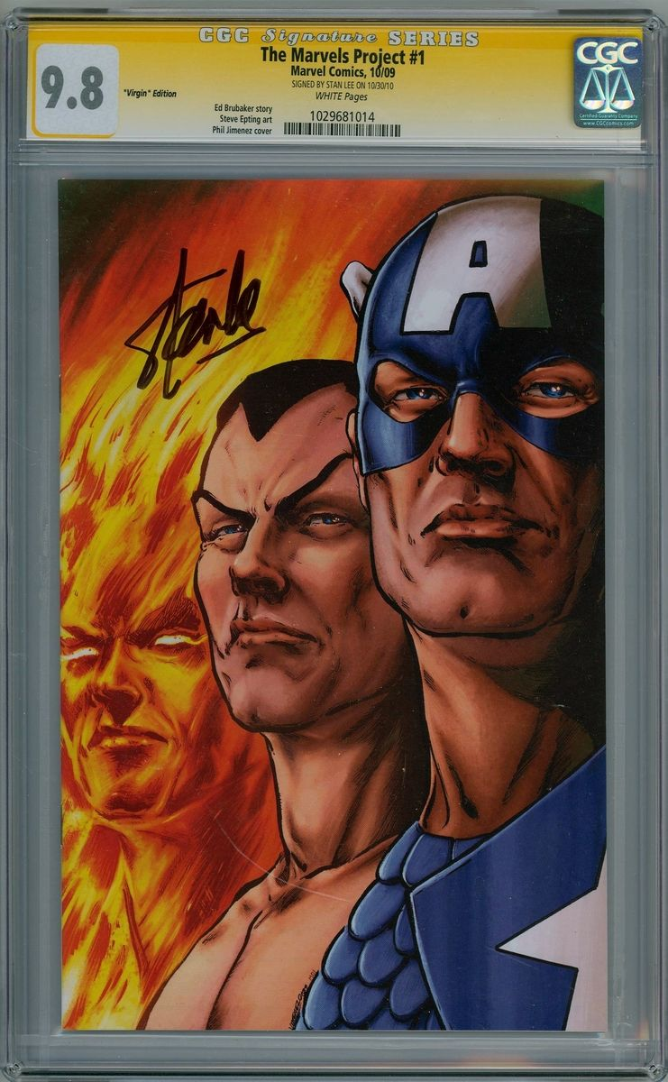 The Marvels Project 1 Virgin Variant Cgc 9 8 Signature Series Signed Stan Lee Marvel Comic Book