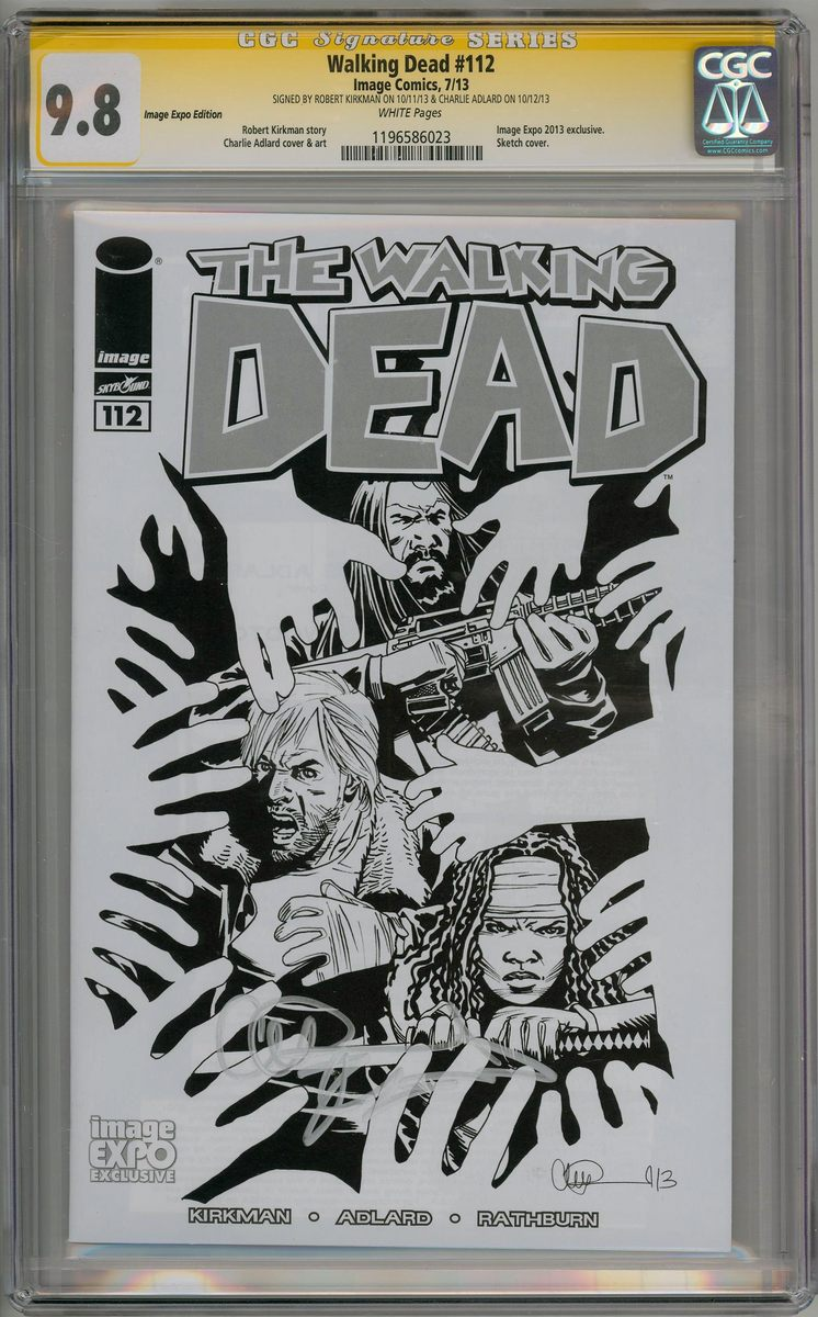 Superhero CGC WALKING DEAD #112 IMAGE EXPO SKETCH VARIANT